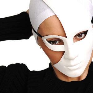 beautiful girl with white mask