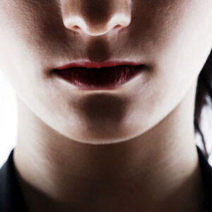 half face of a woman
