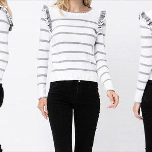 ruffle sweater photo